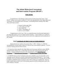 The Infant Behavioral Assessment and Intervention ... - Ibaip.org