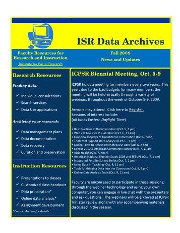 ISR Data Archives - UCLA