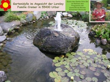 Gartenidylle im Angesicht der Loreley Familie Cremer in 55430 Urbar