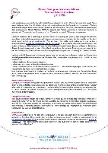 fr document view  normalisation des codes siren siret