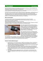 Feinstaub - Baubiologie Herberg