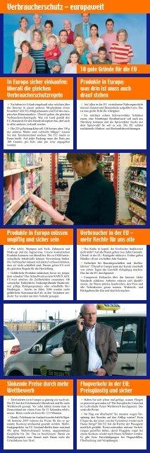 Verbraucherschutz – europaweit