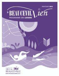 PROGRAMME DES LOISIRS - Ville de Beauceville