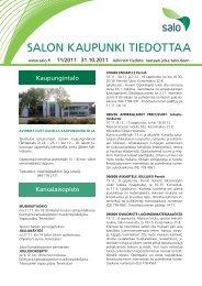 11/2011 - Salon kaupunki