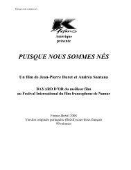 PUISQUE NOUS SOMMES NÉS - K-Films Amérique