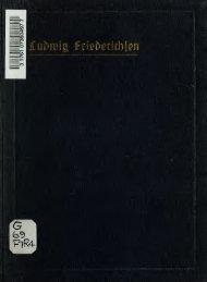Ludwig Friederichsen; ein Bild seines Lebens