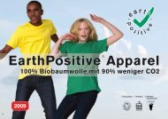 EarthPositive® Apparel - 100 gute Gründe gegen Atomkraft