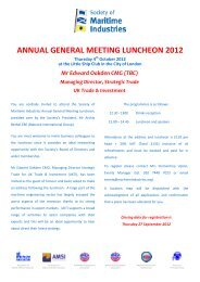annual general meeting luncheon 2012 - Society of Maritime ...