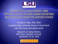 Aging in the U.S. - LSU School of Social Work - Louisiana State ...