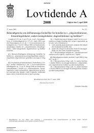 Bekendtgørelse om driftsmæssige forskrifter for hoteller m.v. ...
