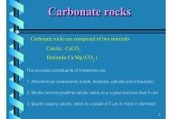 Carbonate rocks are composed of two minerals Calcite CaCO ...