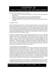 Conflict Resolution and Crisis Management - Massachusetts ...