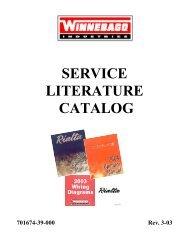 Catalog - Winnebago Rialta Motor Home