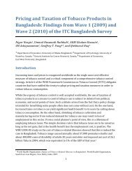 Pricing and Taxation of Tobacco Products in Bangladesh