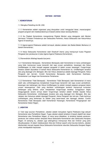 Senarai Agensi Pada 31 Disember 2004