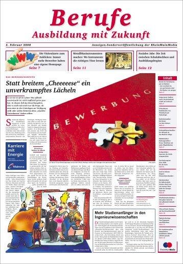 Ausbildung mit Zukunft Ausbildung mit Zukunft - Rhein-Main.net