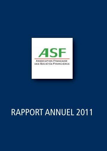 2011 Le rapport annuel de l'ASF