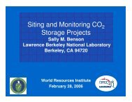 Siting and Monitoring CO Storage Projects - World Resources Institute