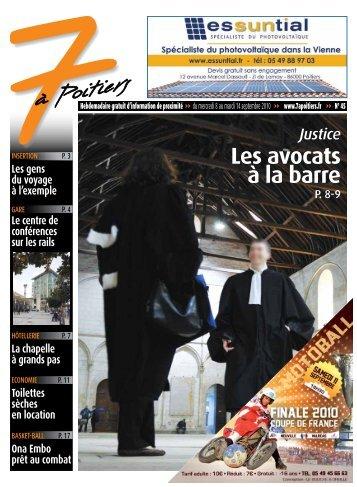 n° 44 voir ce numéro - 7 à Poitiers