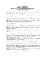 List of Publications Professor Klaus Schulten Departments of ...