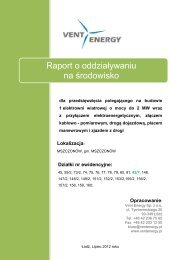 Raport o oddziaływaniu na środowisko - biuletyn informacji ...