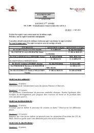 EXAMENS 2007 – 2008 1 SEMESTRE LICENCE 2 ANNEE UE ...