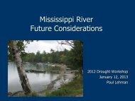 mississippi river future considerations-paul lehman