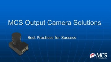 Best Practices: Output Camera Solutions - MCS