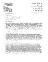 Contracting Market Studies - National Housing & Rehabilitation ...