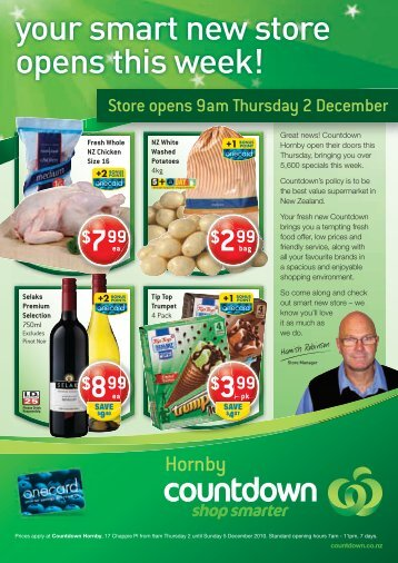 your smart new store opens this week! - Countdown