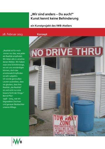 Konzept Ausstellung iwb.indd - IWB Integriertes Wohnen für ...
