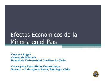 Efectos Economicos de la Mineria en el Pais. - Sonami