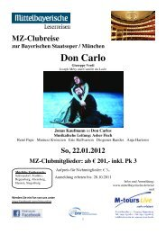 01 22 Reiseprogramm Oper München Don Carlo