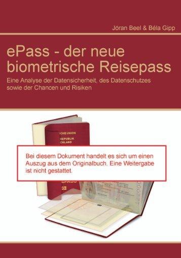 ePass - der neue biometrische Reisepass ... - Jöran Beel