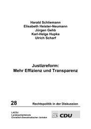 Justizreform: Mehr Effizienz und Transparenz - LACDJ ...