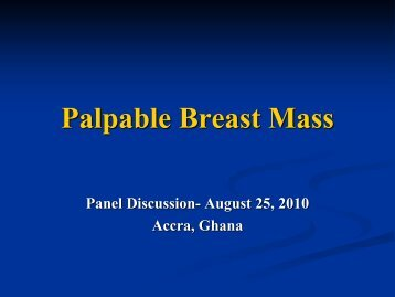 Palpable Breast Mass Discussion