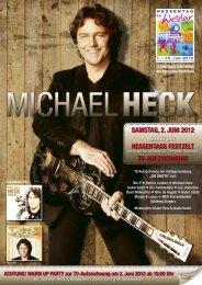 SAMSTAG, 2. JUNI 2012 20:00 Uhr HESSENTAGS ... - Michael Heck