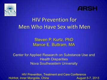 HIV Prevention for Men Who Have Sex with Men - Center for Applied ...
