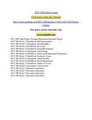 HTT 200 Entire Course /Uophelp