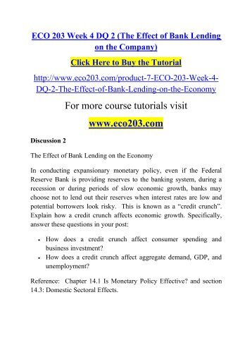 eco 203 week 3 assignment efforts This tutorial contains 3 papers of this assignment efforts to reduce the budget  deficit the rapid growth of the national debt alarmed some politicians and.