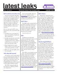 January 2010 - Missouri Petroleum Storage Tank Insurance Fund ...