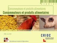 Consommateurs et produits alimentaires - Crioc