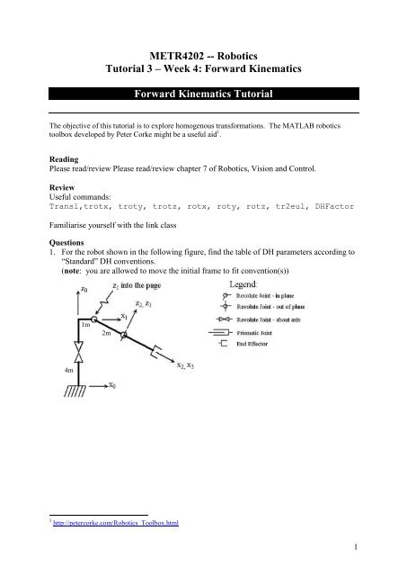 Tutorial 3: Forward Kinematics and