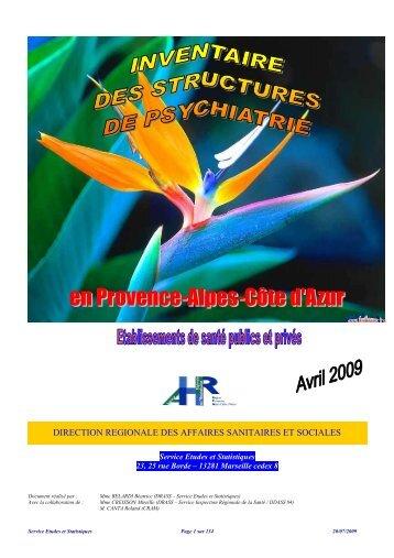 direction regionale des affaires sanitaires et sociales - ARS Paca