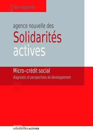 Microcrédit social. Diagnostic et perspectives de développement ...