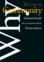 Why We Live in Community - Plough