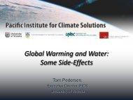 Prof. Tom Pedersen - Program on Water Governance