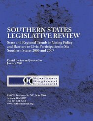 southern states legislative review - Southern Regional Council