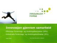 Innovasjon gjennom samarbeid - Innomed