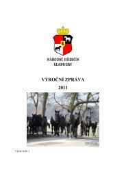 VÝROČNÍ ZPRÁVA 2011 - Národní hřebčín Kladruby